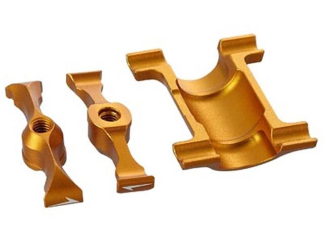 KCNC Carbon Saddle Rail Support Kit Ø27,2mm for Ti Pro Lite gold